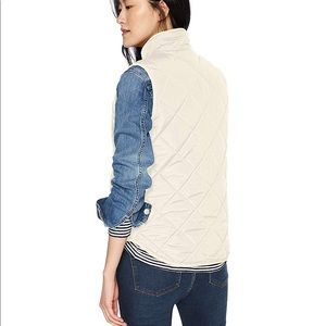 J.Crew Excursion Quilted Down Vest Bleached Sand